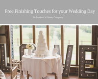 Click for details about our Free Finishing Touches for Weddings
