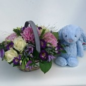 New Baby Boy Basket Gift Set