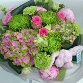 New Baby Girl Bouquet Gift Set