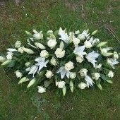 Rose & Lily Coffin Arrangement