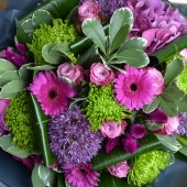Purple & Lime Bouquet
