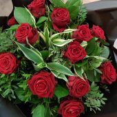 Classic Red Rose Hand-tied