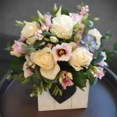 Signature Rose & Lisianthus Arrangement