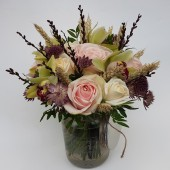 Countryside Rose & Orchid Jar