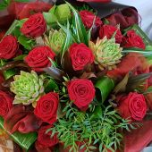 Signature Red Rose Hand-tied