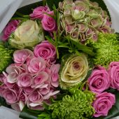 Lush Pink & Lime Hand-tied