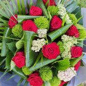 Luxury Red Rose Hand-tied