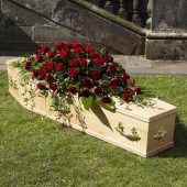 Classic Rose Coffin Arrangement