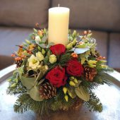 Luxury Red Candle Arrangement