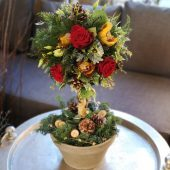 Luxury Red Rose Topiary Arrangement