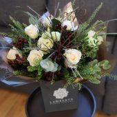 Rose & Lisianthus Hand-tied
