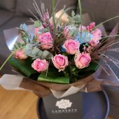 Dusky Pink Rose Hand-tied