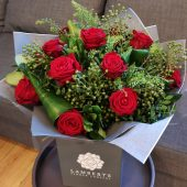 Rich Red Rose Hand-tied