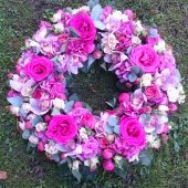 Luxury Pink Floral Wreath