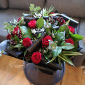 Lush & Luxurious Red Rose Hand-tied