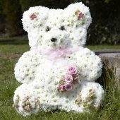 Teddy Bear Floral Tribute