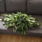 Evergreen Coffin Arrangement